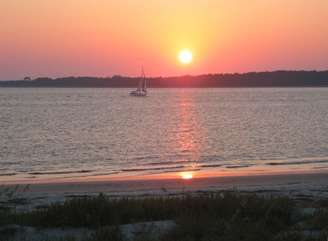 Watch the sun set over the waters from the comfort of your deck!
