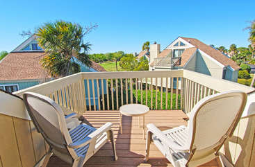 Catch the summer sun and enjoy watching the wildlife from the deck upstairs.