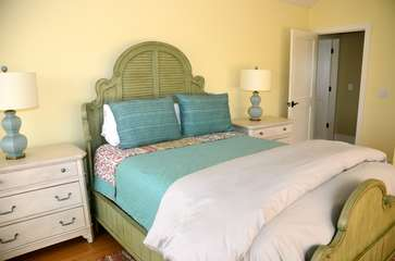 The 3rd bedroom has a queen bed. There is a full bath accessible from the hall.