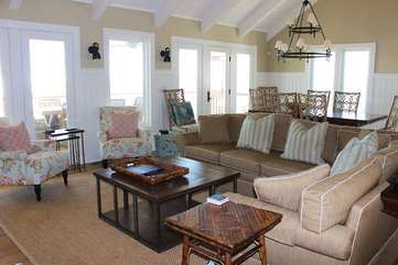 Your family and friends will love gathering in this lovely room!