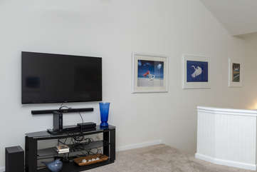 HDTV in great room with Smart TV capabilities and DVD player