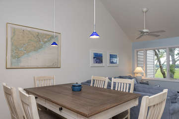 Oversized Dining Room Table, with large padded seats for relaxing meals