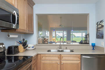 A cook's kitchen - with a view!
