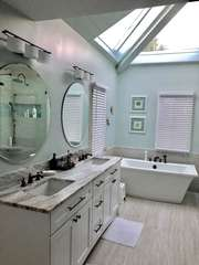 Completely updated, luxurious en suite master bath