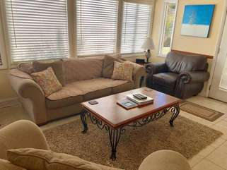 Plenty of comfortable seating in the living area.