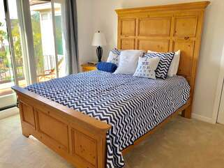 The 4th bedroom is also on the 2nd floor. It has a queen bed with en suite full bathroom that has been completely remodeled..