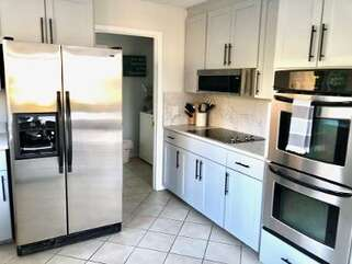 Stainless steel appliances.  Double ovens for your use!