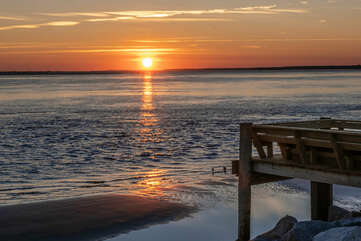 Enjoy a Sunset walk on the beach to end a special day on Seabrook Island.