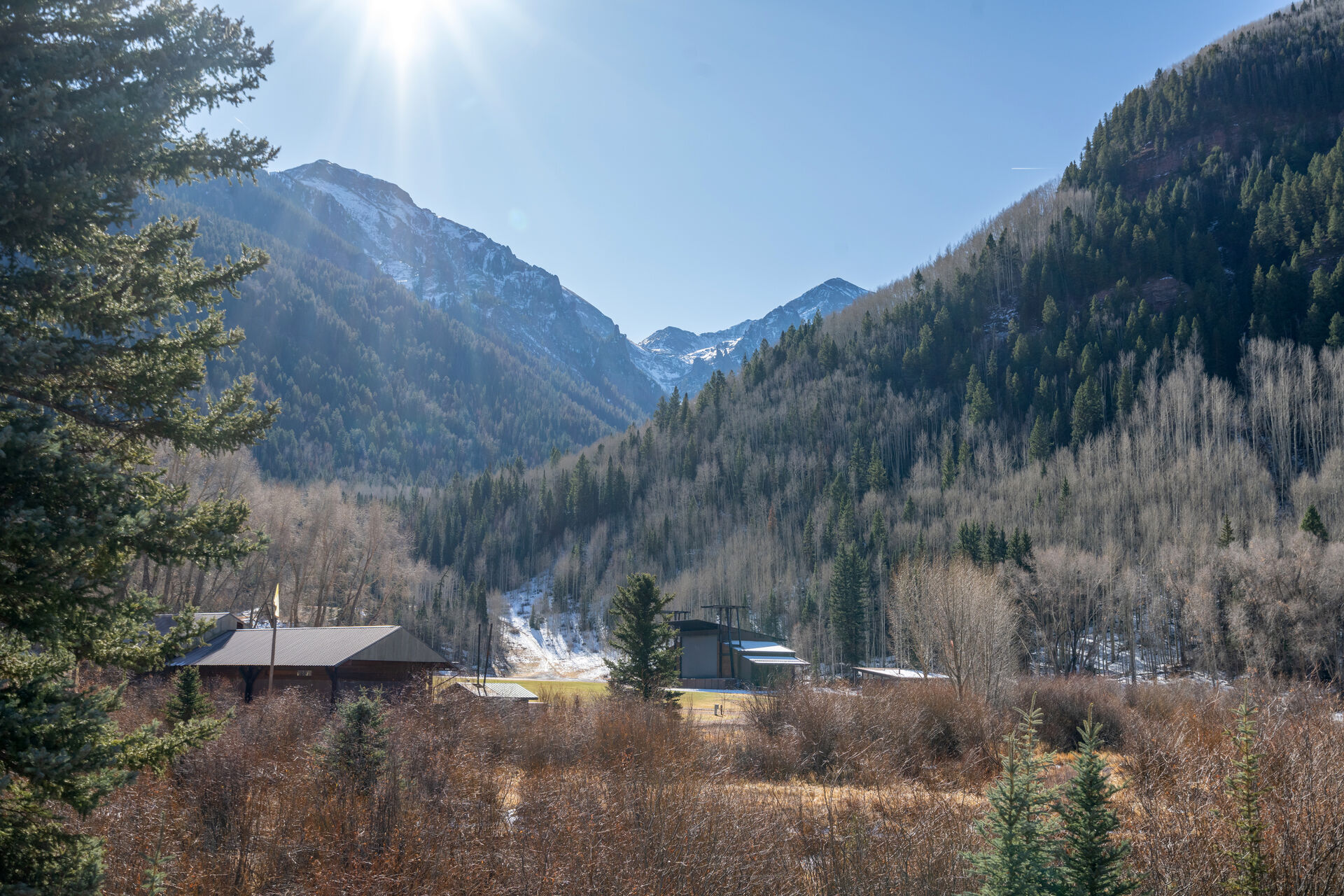View from the Muscatel Flats 4 Telluride rental