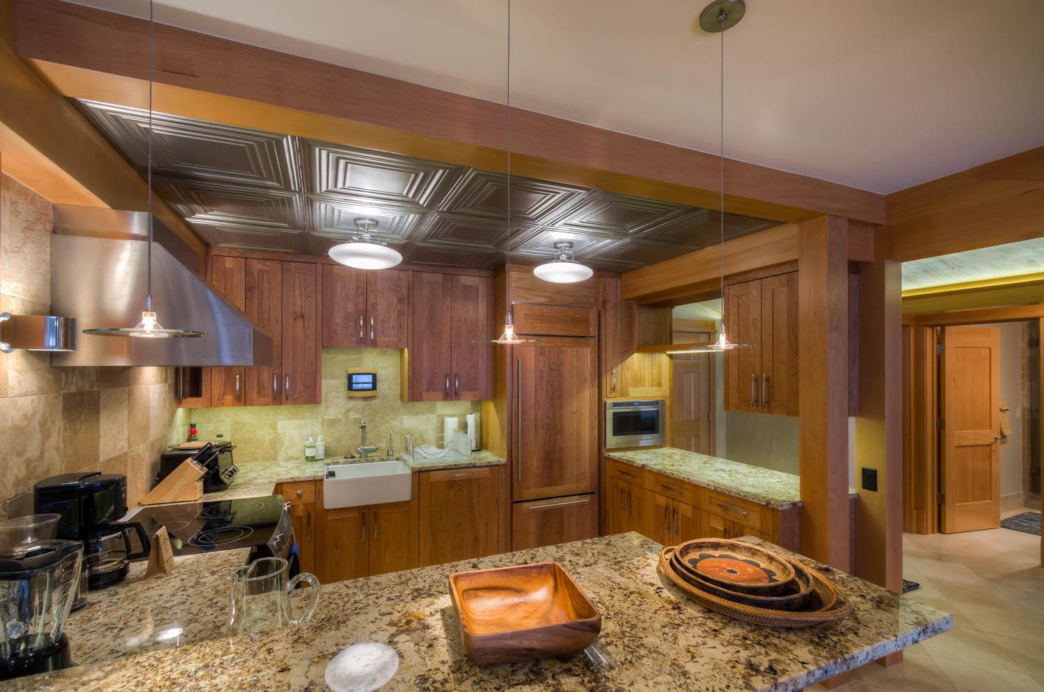 Kitchen with Refrigerator, Coffee Maker, and Oven