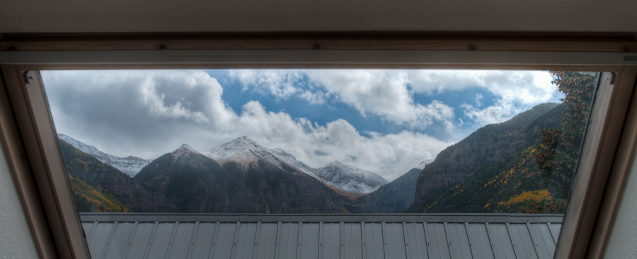 Skylight view in this Telluride Townhome for Rent