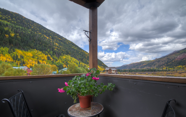 Deck view from this vacation home Telluride
