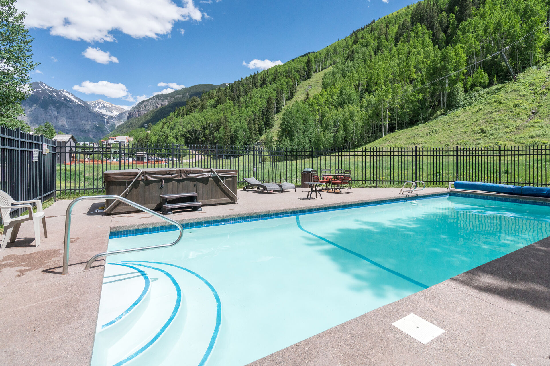 View of the Pool and Hot tub
