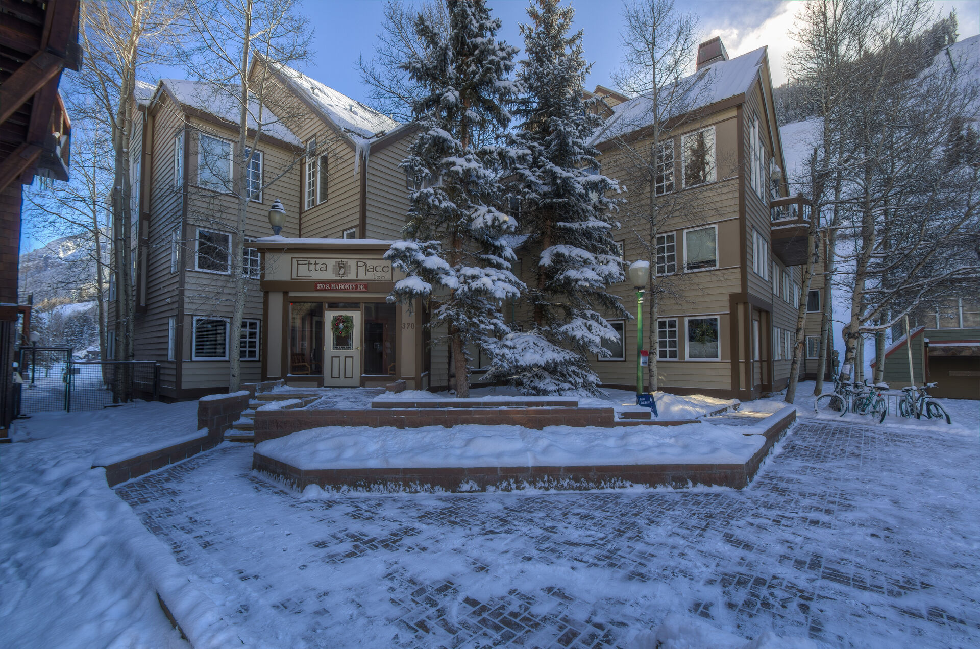 Exterior View of our Condo Rental in Telluride