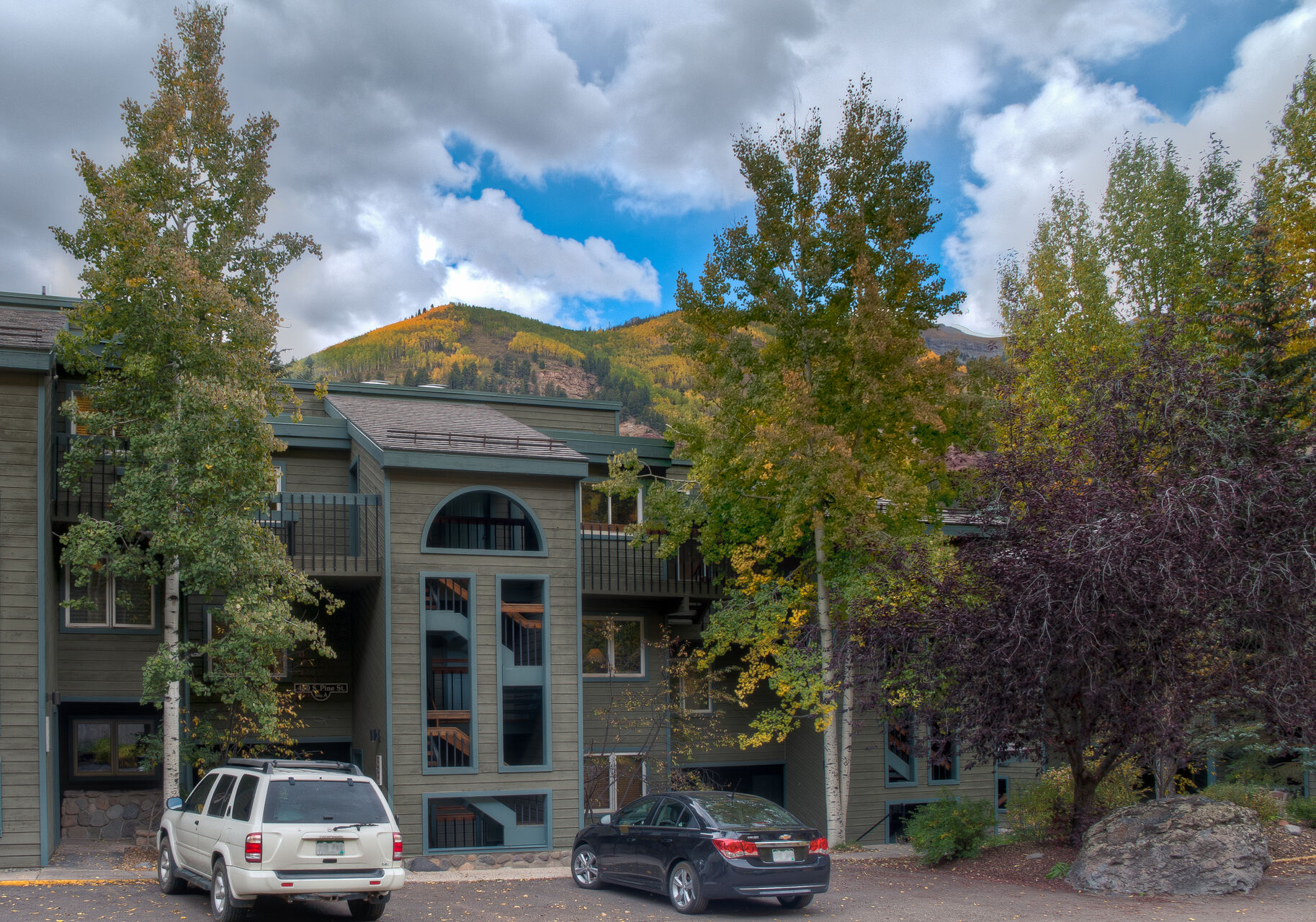 View of the Riverside A203 Telluride rental