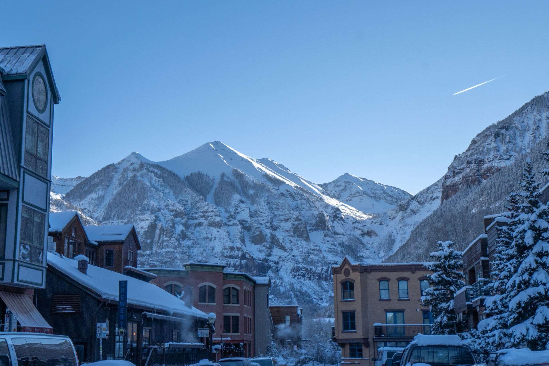 View of the mountains and Telluride