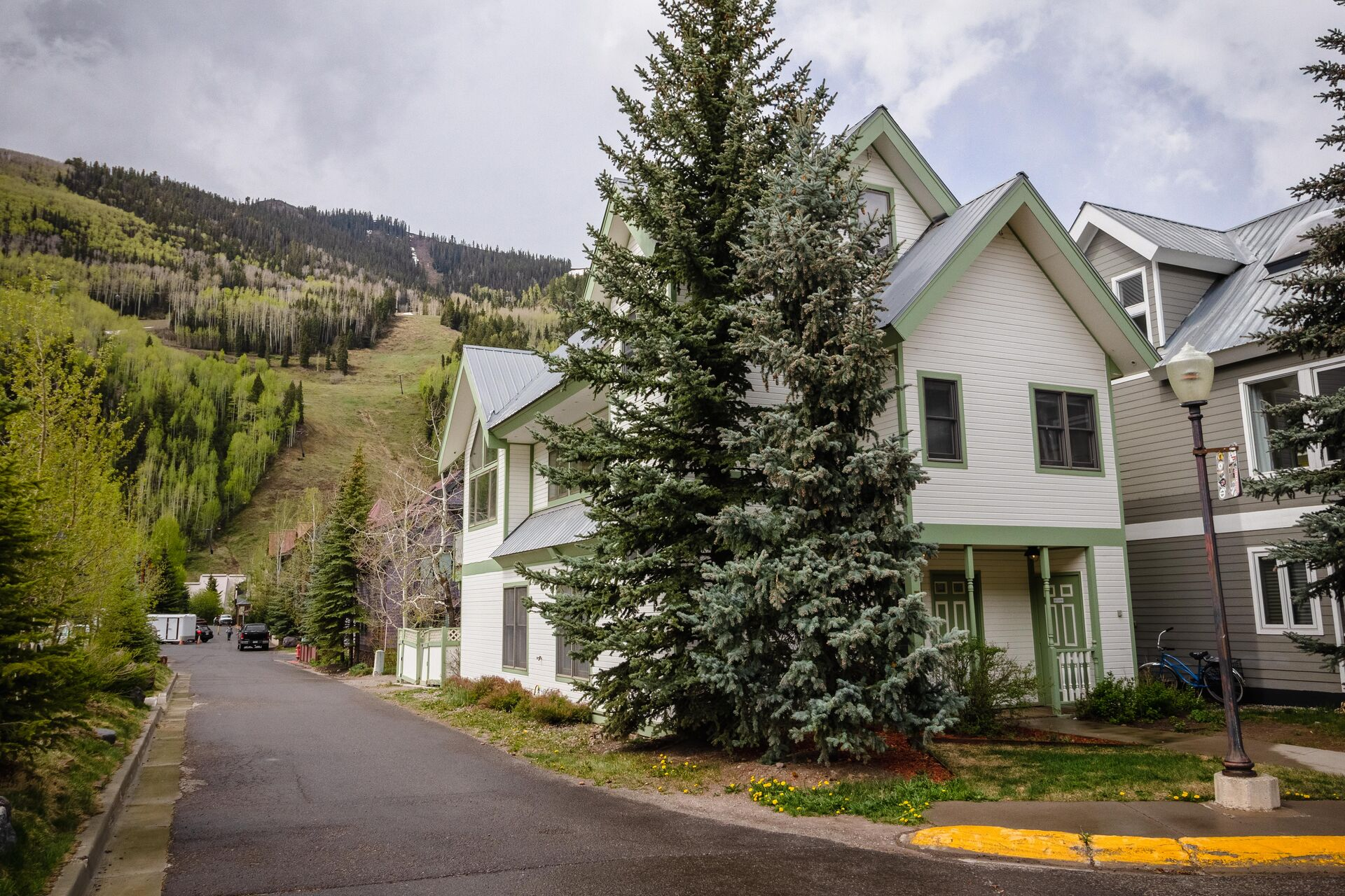 Exterior of this vacation rental in Telluride
