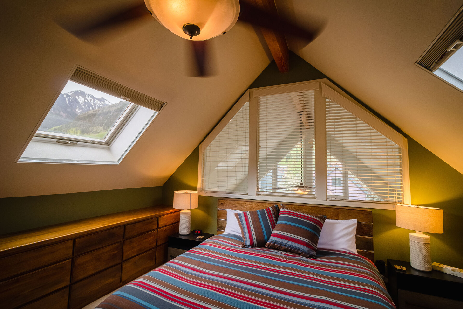 Bedroom with King Bed and Skylight