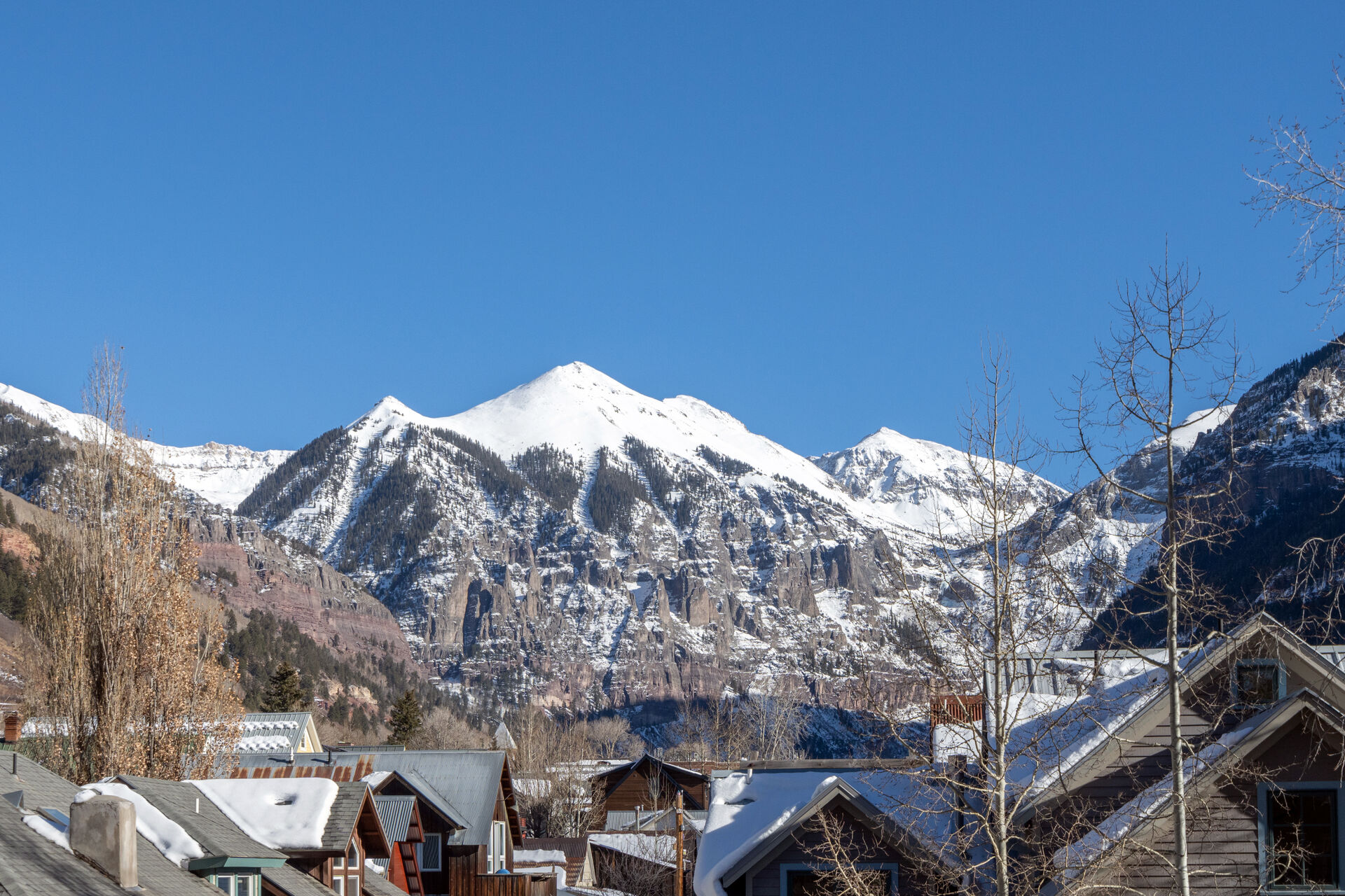 Mountain View in winter