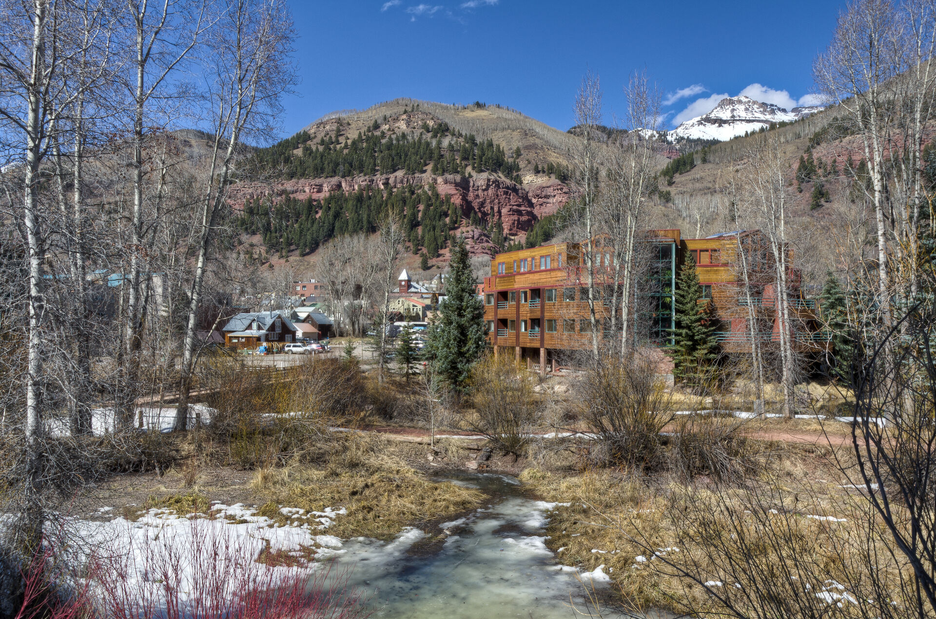 View from the Riverside D02 Telluride vacation rental