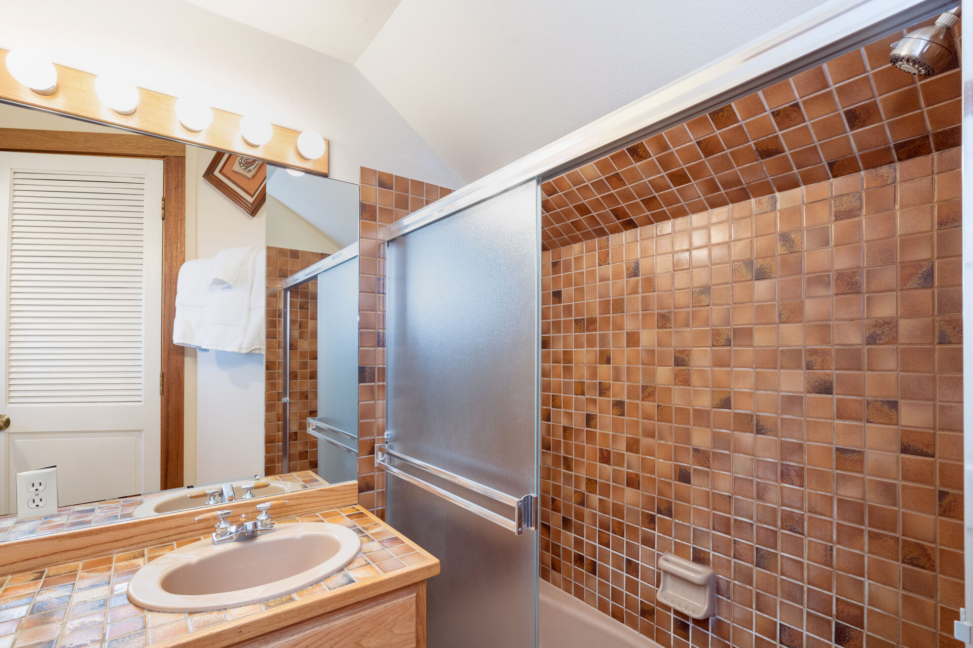 Second bathroom with a spacious walk in shower