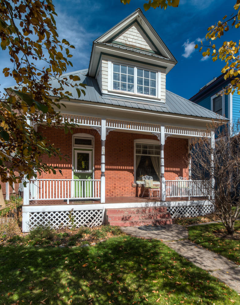 Entrance to the Victorian Elegance Telluride home rental
