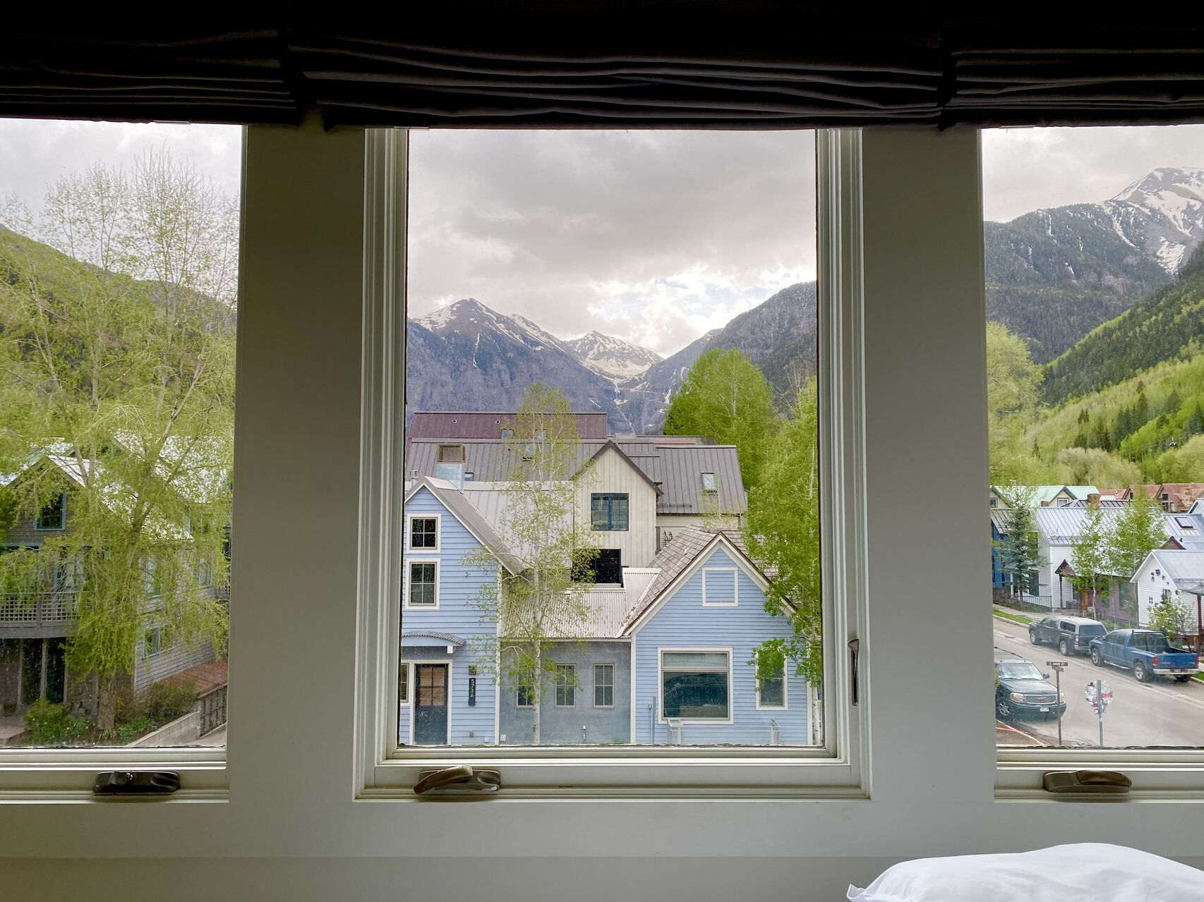 Outside view from inside our Telluride condo rental