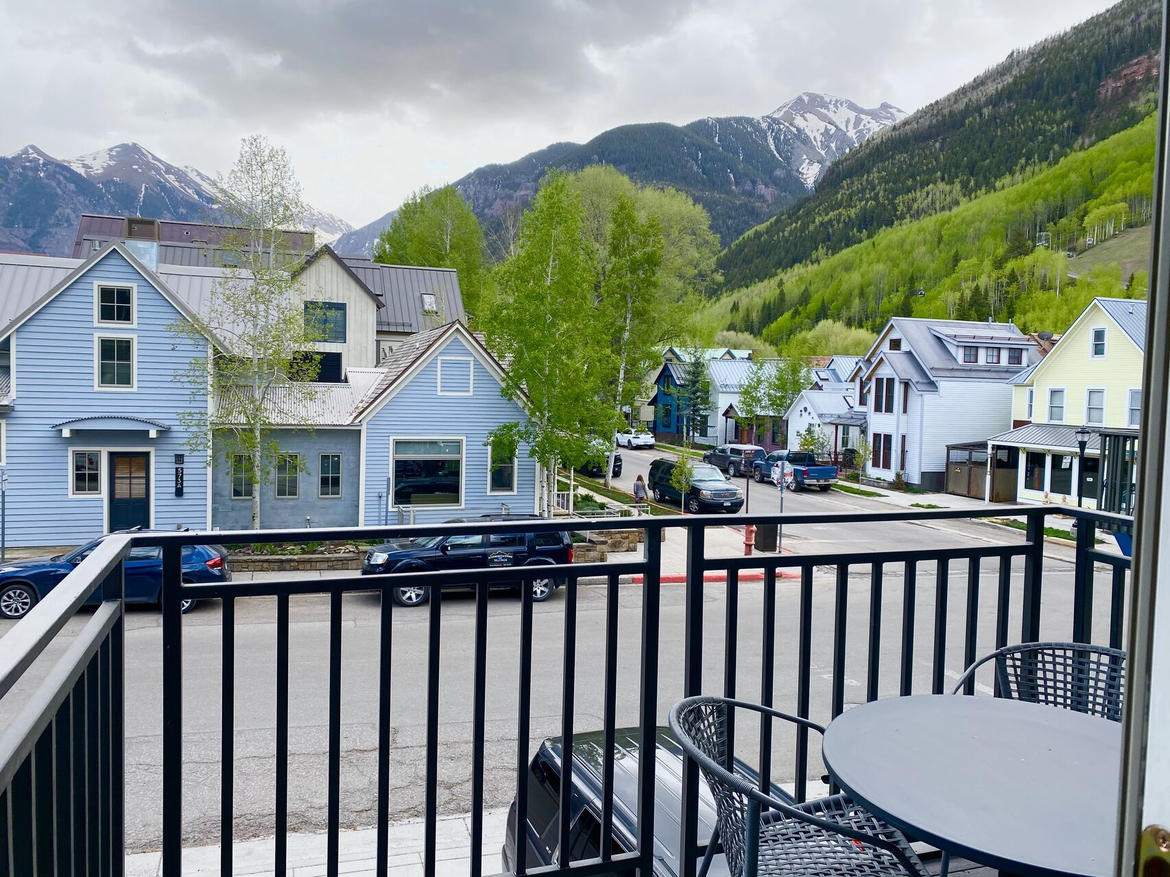 Poarch view from our Telluride condo rental