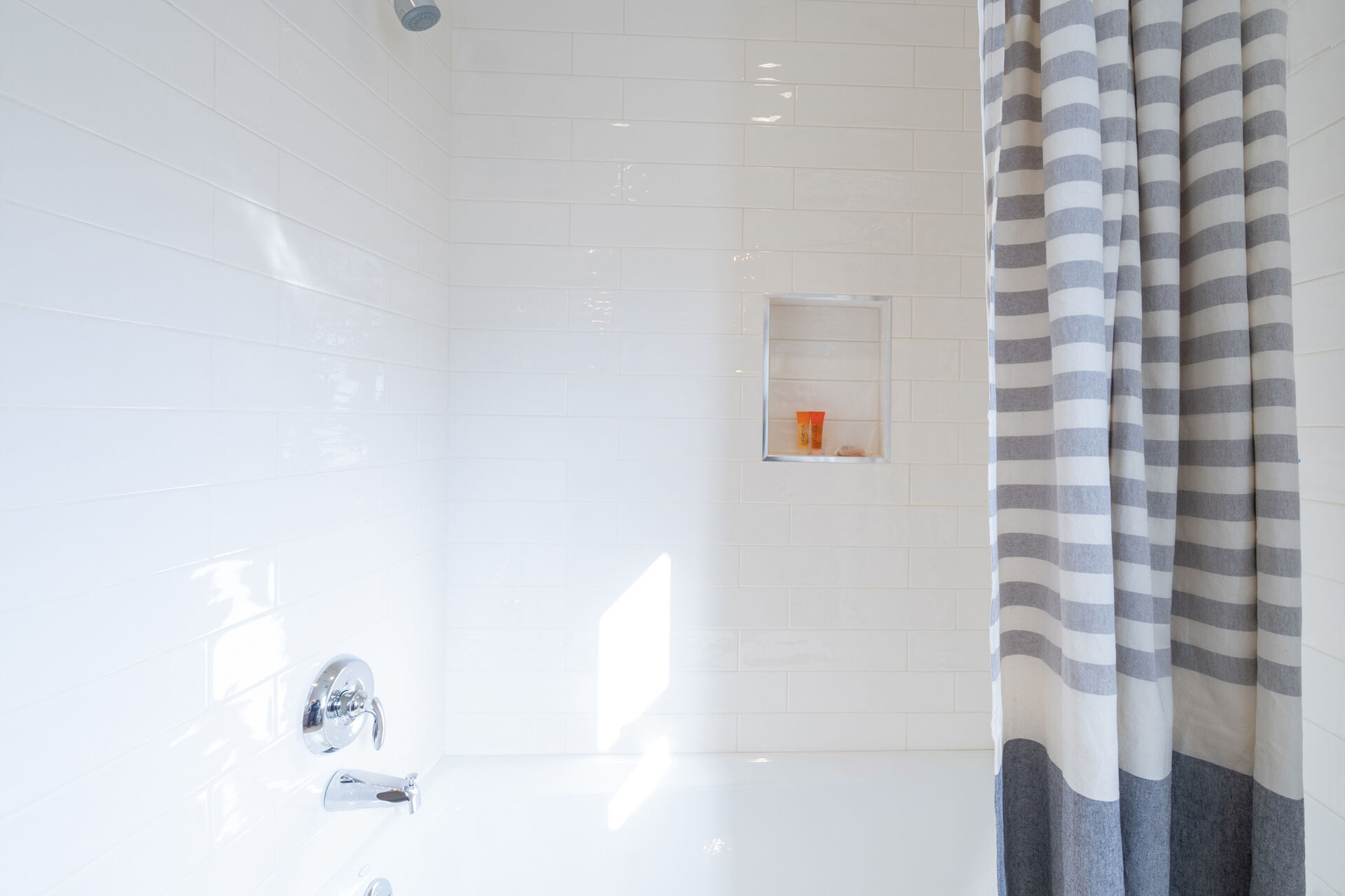 Shower and a tub