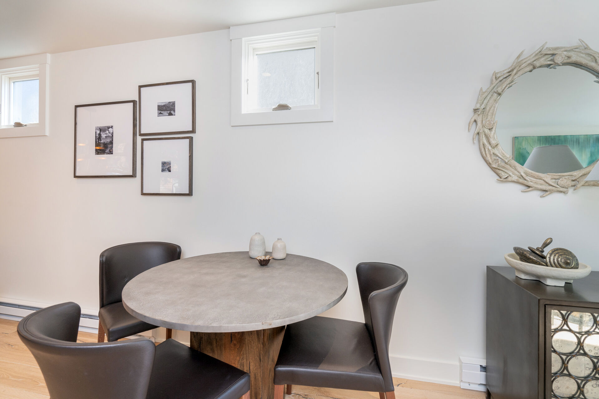 Small dining area seating 3