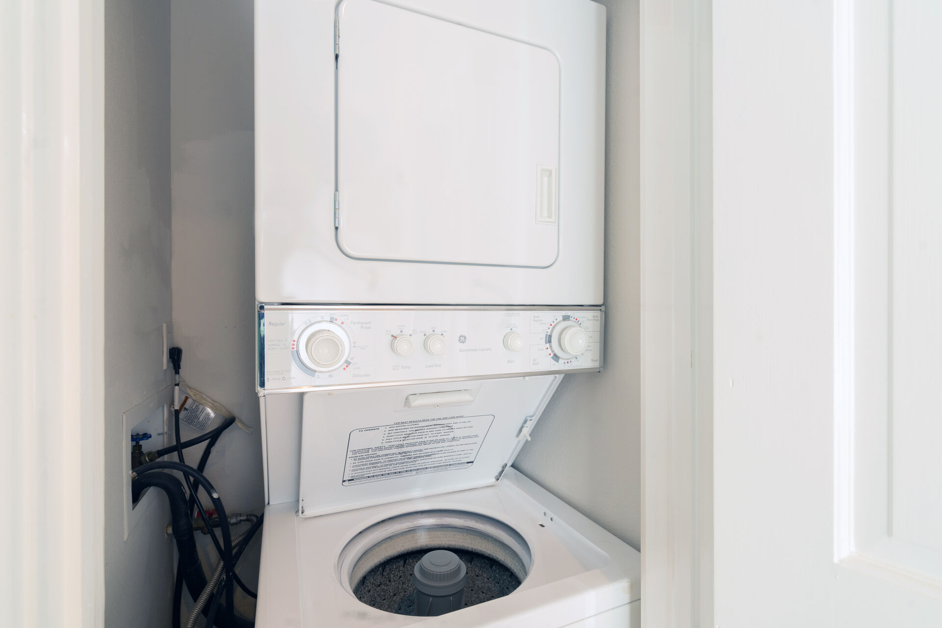 Washer/dryer combo in unit.