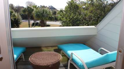 Lounge on the chaise on the sun deck