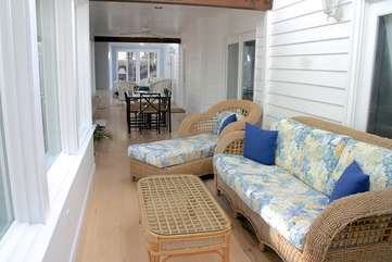 The sun room has over 60 feet of heated/cooled living space.