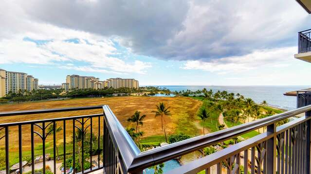 View From Lanai of this Ko Olina beach villa for rent.