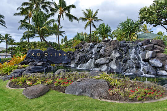 Waterfall at Entrance to Ko Olina.