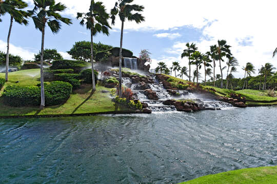 Waterfall at the 12th Tee Of Ko Olina's Golf Course.