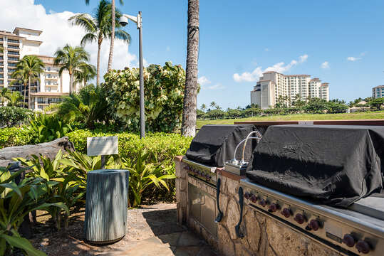 Grills with Skyline View - Accessible from our Vacation Rental in Oahu