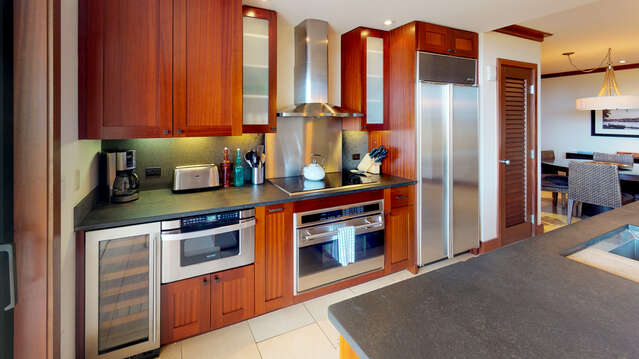 Fully Equipped Kitchen in our Oahu Vacation Rental