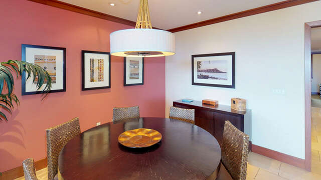 Dining Area with Seating for Six in our Oahu Vacation Rental