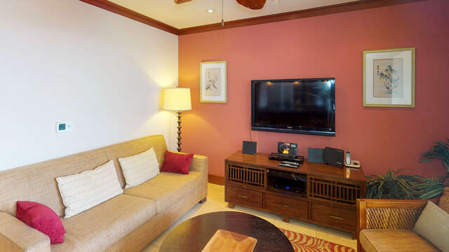Tastefully Furnished Living Area in our Oahu Vacation Rental