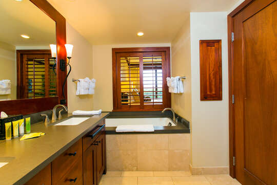 Master Bath with a Large Soaking Tub