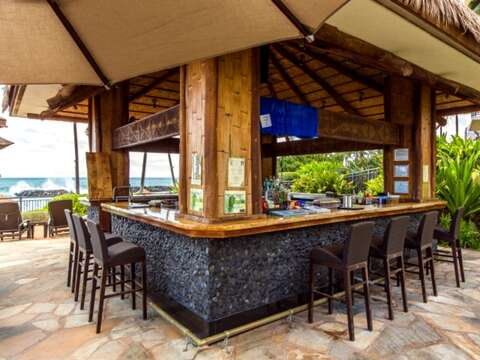 The Private Beach Bar of the Beach Villas community.
