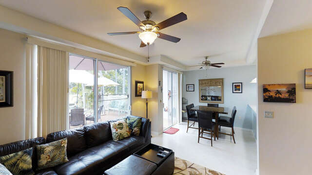An Image of Living and Dining Space in Our Ko Olina Condo Oahu.