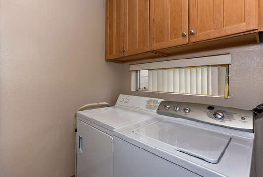 Laundry Area in Condo In Ko Olina Hawaii with Washer and Dryer.