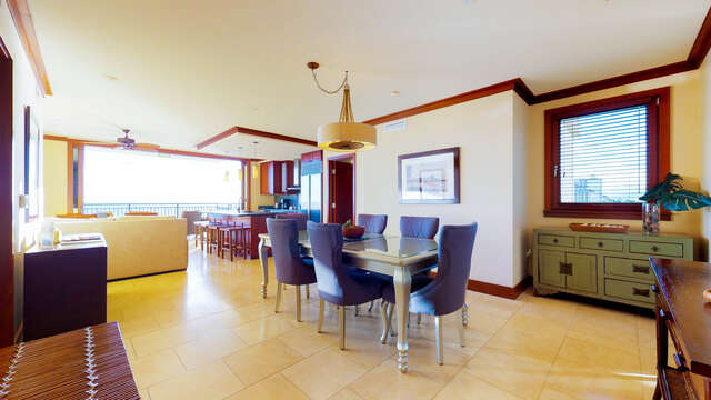 Dining Room and Kitchen inside Our Ko Olina Beach Villa