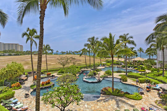 The Lagoon Pool outside Beach Villas at Ko Olina