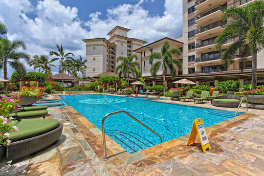 Lap Pool Access from Beach Villas OT-210