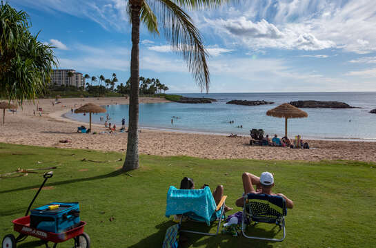 Spend the Afternoon Relaxing at Ko Olina's Lagoon 2 Right in Front of the Building