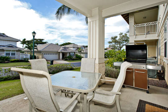 Lanai with Barbecue Grill