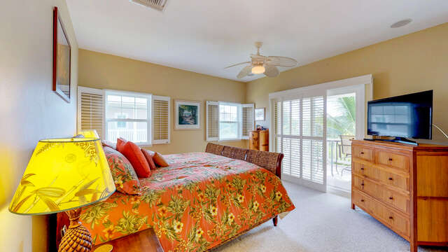 Master Suite with Private Access to Lanai.